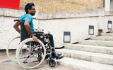 Disabled access to care home premises